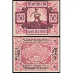 Autriche - Notgeld - Schildorn - 50 heller - Type c - 1920 - Etat : NEUF