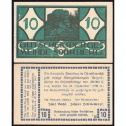 Autriche - Notgeld - Sonnberg - 10 heller - Type a - 1920 - Etat : pr.NEUF