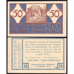 Autriche - Notgeld - Sonnberg - 50 heller - Type a - 1920 - Etat : NEUF