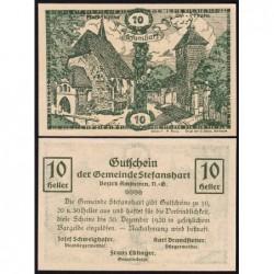 Autriche - Notgeld - Stefanshart - 10 heller - Type a - 1920 - Etat : NEUF