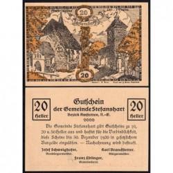 Autriche - Notgeld - Stefanshart - 20 heller - Type a - 1920 - Etat : NEUF
