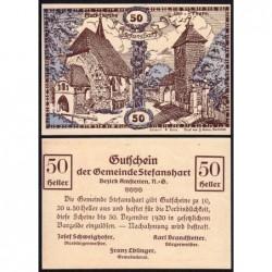 Autriche - Notgeld - Stefanshart - 50 heller - Type a - 1920 - Etat : pr.NEUF