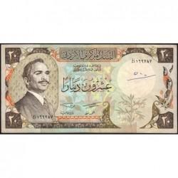 Jordanie - Pick 21a_2 - 20 dinars - 1981 - Etat : TTB-