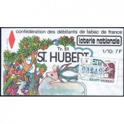 1978 - Loterie Nationale - 51e tranche - 1/10ème - Saint Hubert