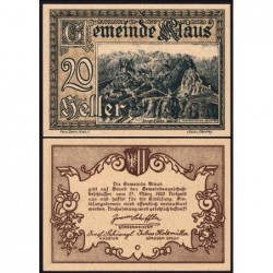 Autriche - Notgeld - Klaus - 20 heller - 1920 - Etat : NEUF