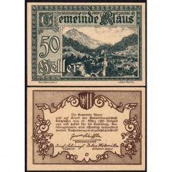 Autriche - Notgeld - Klaus - 50 heller - 1920 - Etat : pr.NEUF