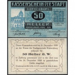 Autriche - Notgeld - Korneuburg - 50 heller - Type d - 03/1920 - Etat : NEUF