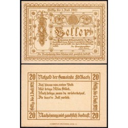 Autriche - Notgeld - Edlbach - 20 heller - 1921 - Etat : NEUF