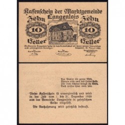 Autriche - Notgeld - Langenlois - 10 heller - Type a - 22/02/1920 - Etat : NEUF