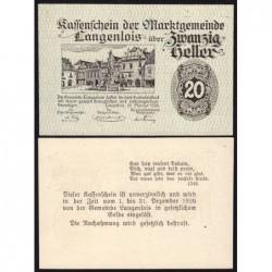 Autriche - Notgeld - Langenlois - 20 heller - Type f - 22/02/1920 - Etat : NEUF