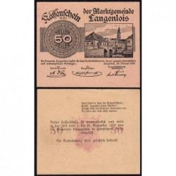 Autriche - Notgeld - Langenlois - 50 heller - Type i - 22/02/1920 - Etat : SPL