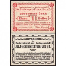 Autriche - Notgeld - Linz - 1 heller - 20/04/1920 - Etat : NEUF