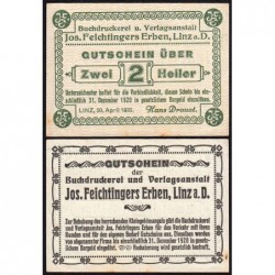 Autriche - Notgeld - Linz - 2 heller - 20/04/1920 - Etat : NEUF
