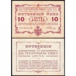 Autriche - Notgeld - Linz - 10 heller - 20/04/1920 - Etat : SUP