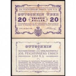 Autriche - Notgeld - Linz - 20 heller - 20/04/1920 - Etat : SUP+
