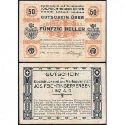 Autriche - Notgeld - Linz - 50 heller - 20/04/1920 - Etat : SUP+