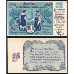 Autriche - Notgeld - Linz - 25 heller - 21/04/1920 - Etat : NEUF