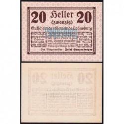 Autriche - Notgeld - Lohnsburg - 20 heller - Type d - 1920 - Etat : NEUF