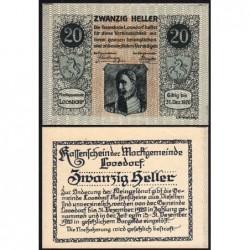 Autriche - Notgeld - Loosdorf - 20 heller - Type a - 08/04/1920 - Etat : NEUF