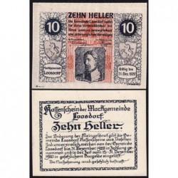 Autriche - Notgeld - Loosdorf - 10 heller - Type b - 08/04/1920 - Etat : NEUF