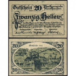 Autriche - Notgeld - Mauthausen - 20 heller - 1920 - Etat : SPL