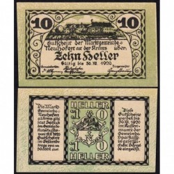 Autriche - Notgeld - Neuhofen an der Krems - 10 heller - 19/03/1920 - Etat : NEUF