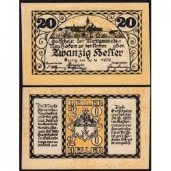 Autriche - Notgeld - Neuhofen an der Krems - 20 heller - 19/03/1920 - Etat : NEUF