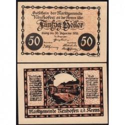 Autriche - Notgeld - Neuhofen an der Krems - 50 heller - 19/03/1920 - Etat : pr.NEUF