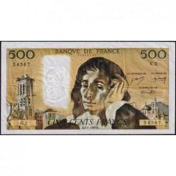 F 71-1 - 04/01/1968 - 500 francs - Pascal - Série K.2 - Etat : TB