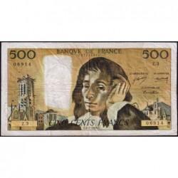 F 71-1 - 04/01/1968 - 500 francs - Pascal - Série Z.3 - Etat : TB-