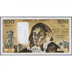 F 71-2 - 05/12/1968 - 500 francs - Pascal - Série O.6 - Etat : TB