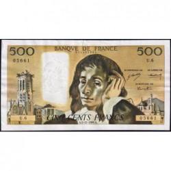 F 71-2 - 05/12/1968 - 500 francs - Pascal - Série U.6 - Etat : TTB-