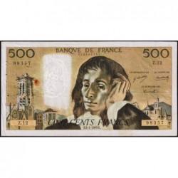 F 71-3 - 02/01/1969 - 500 francs - Pascal - Série Z.12 - Etat : TB-