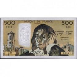 F 71-13 - 06/11/1975 - 500 francs - Pascal - Série N.55 - Etat : SUP+