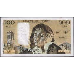 F 71-21 - 03/04/1980 - 500 francs - Pascal - Série C.117 - Etat : SPL