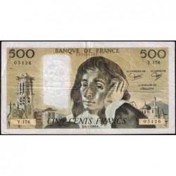 F 71-28 - 06/01/1983 - 500 francs - Pascal - Série Y.176 - Etat : TB
