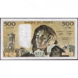 F 71-28 - 06/01/1983 - 500 francs - Pascal - Série B.182 - Etat : TTB-