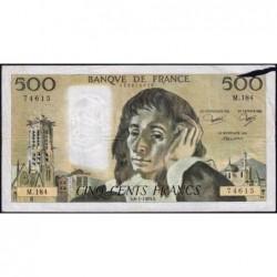 F 71-28 - 06/01/1983 - 500 francs - Pascal - Série M.184 - Etat : B+