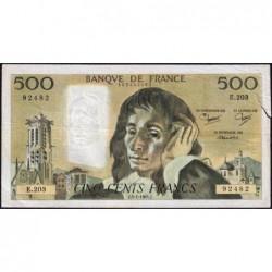 F 71-30 - 05/01/1984 - 500 francs - Pascal - Série E.203 - Etat : B+