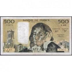F 71-31 - 05/07/1984 - 500 francs - Pascal - Série X.205 - Etat : TB