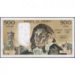 F 71-31 - 05/07/1984 - 500 francs - Pascal - Série J.211 - Etat : B+