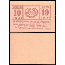 Autriche - Notgeld - Ottnang - 10 heller - 03/01/1920 - Etat : NEUF