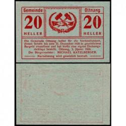 Autriche - Notgeld - Ottnang - 20 heller - Type 2 - 03/01/1920 - Etat : NEUF