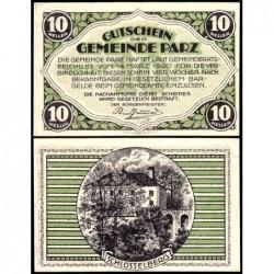 Autriche - Notgeld - Parz - 10 heller - 14/03/1920 - Etat : NEUF