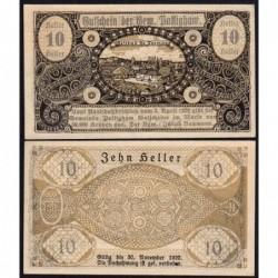 Autriche - Notgeld - Pattigham - 10 heller - 03/04/1920 - Etat : SPL