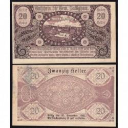 Autriche - Notgeld - Pattigham - 20 heller - 03/04/1920 - Etat : SPL