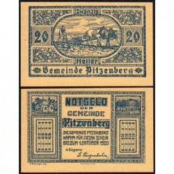 Autriche - Notgeld - Pitzenberg - 20 heller - Type 2 - 1920 - Etat : SPL