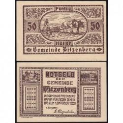 Autriche - Notgeld - Pitzenberg - 50 heller - Type 1 - 1920 - Etat : SPL