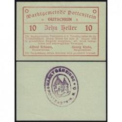 Autriche - Notgeld - Pottenstein - 10 heller - 05/1920 - Etat : pr.NEUF