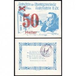 Autriche - Notgeld - Rabenstein - 50 heller - 19/04/1920 - Etat : NEUF